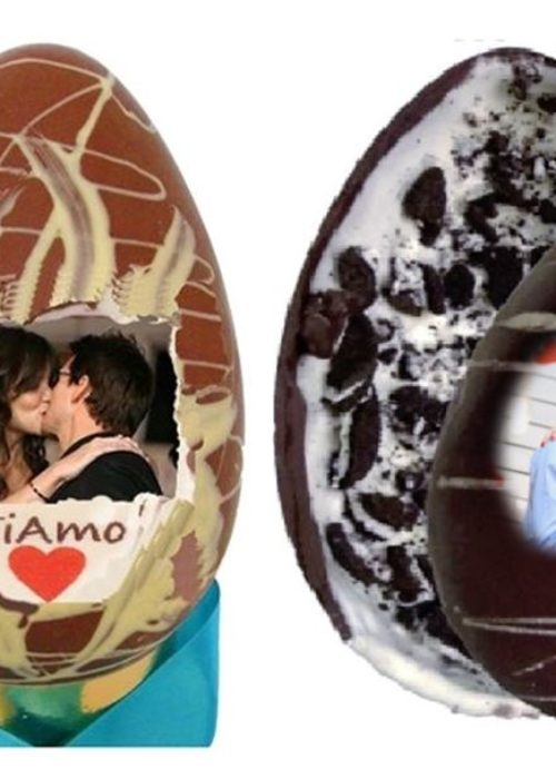 Uovo gr 500 con foto e gusto a scelta: oreo, bueno, kinder, pistacchio ecc...