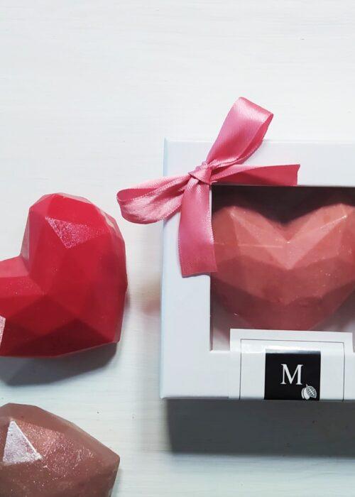 Cuore diamante in cioccolato makò gr 130 / gr 600