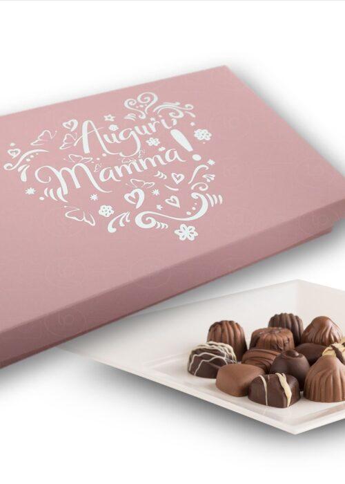 SCATOLA Auguri mamma cioccolatini con il tuo bigliettino personale di auguri