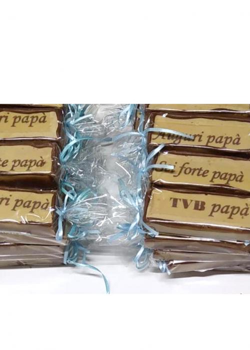TARGHETTA del PAPà gr 120 ripieno al bacio gianduia e nocciole