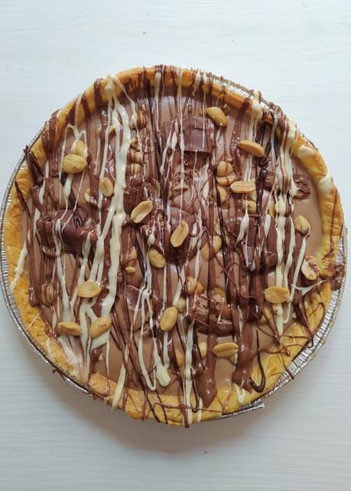 Crostata al pistacchio, bueno, snickers, rocher, nutella, biscuit, oreo, bounty, pan stelle, fondente ecc. da gr 900/1 kg