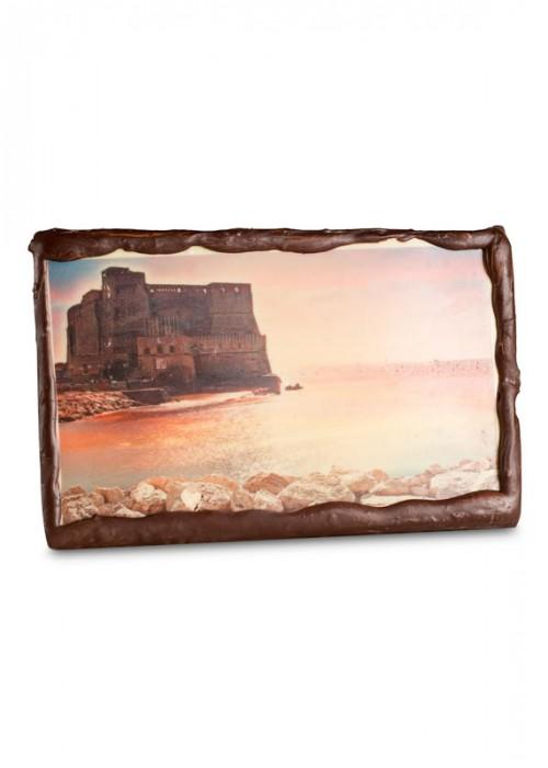 CARTOLINA  di cioccolato con la foto della tua città