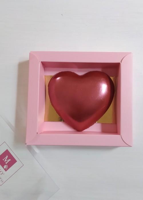 Cuore Rosa Gold in cioccolato makò gr 120