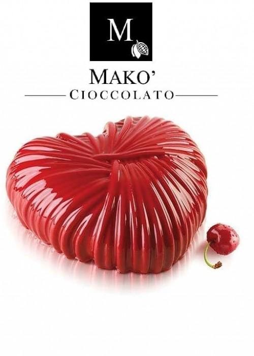 Cuore di cioccolato Fondente Makò allo Cherry con ciliegia igp