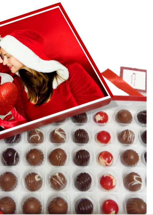 Scatola Personalizzata con la tua FOTO e DEDICA con cioccolatini nudi assortiti