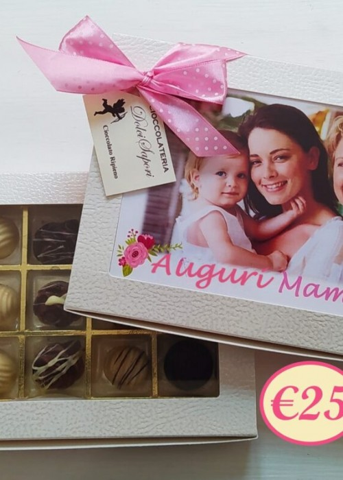 Scatola di cioccolatini personalizzata con la tua FOTO e DEDICA