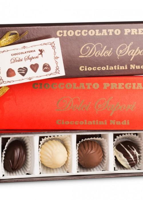 scatolino con 5 cioccolatini + biglietto personalizzato sconto da 100 pz 3 €