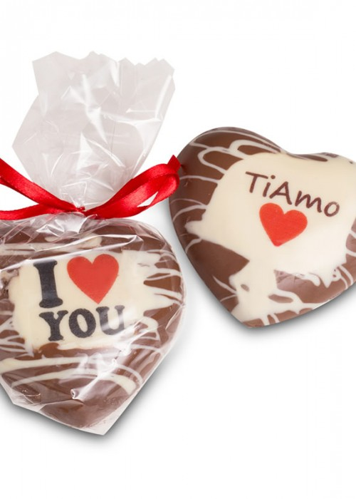 CUORE TI AMO/I LOVE YOU GR 120 ripieno gianduia e nocciole