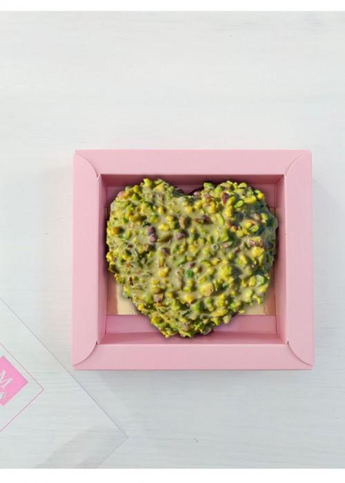 cuore Mamma Nocciolato, pistacchio bronte, mandorlato farcito di morbida crema  da gr  190