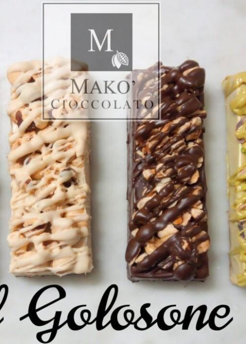 GOLOSONE croccante farcito di crema a scelta  gr 130 pistacchio, nocciolato, bueno, snickers, oreo, rocher, cocco, mandorla, nutella ecc.
